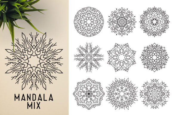 300 Mandala Ornaments Graphic Illustrations By pixaroma - Image 19