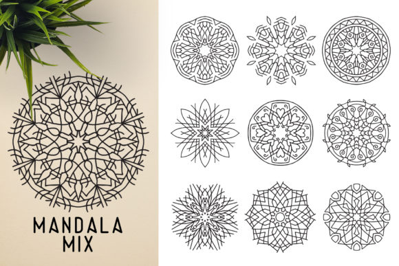 300 Mandala Ornaments Graphic Illustrations By pixaroma - Image 2