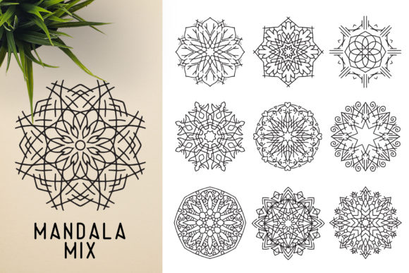 300 Mandala Ornaments Graphic Illustrations By pixaroma - Image 20