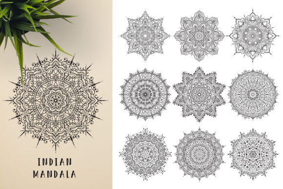 300 Mandala Ornaments Graphic Illustrations By pixaroma - Image 3