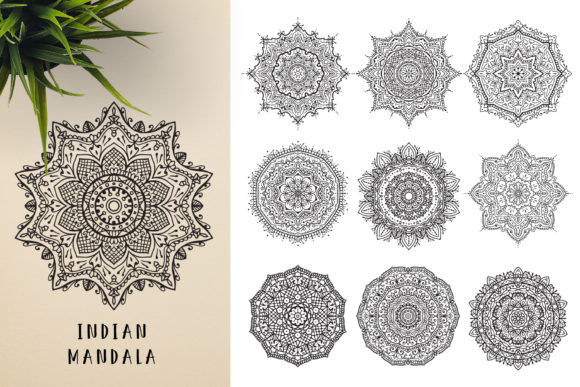 300 Mandala Ornaments Graphic Illustrations By pixaroma - Image 4