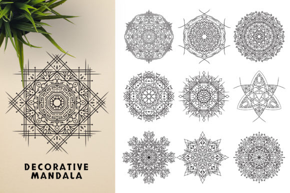 300 Mandala Ornaments Graphic Illustrations By pixaroma - Image 5