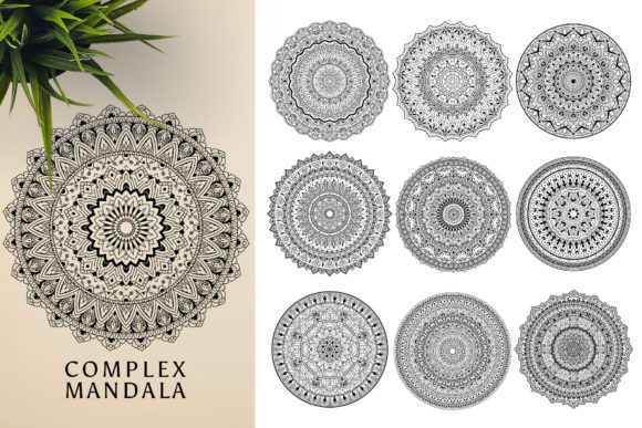 300 Mandala Ornaments Graphic Illustrations By pixaroma - Image 7