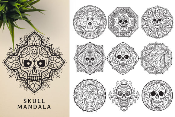 300 Mandala Ornaments Graphic Illustrations By pixaroma - Image 8