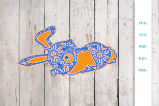 Download Free 3d Multi Layer Bunny Out Of Mandala 5 Graphic By Sintegra for Cricut Explore, Silhouette and other cutting machines.