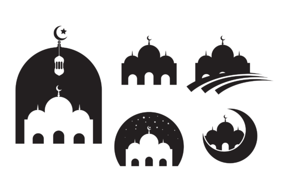 Download Free 5 Mosque Silhouette Graphic By Fauzidea Creative Fabrica for Cricut Explore, Silhouette and other cutting machines.