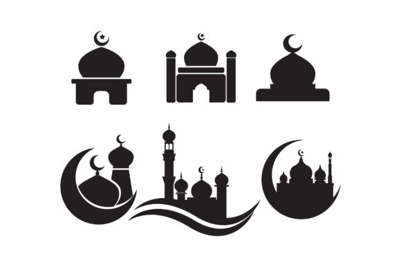 Download Free 6 Mosque Silhouette Graphic By Fauzidea Creative Fabrica for Cricut Explore, Silhouette and other cutting machines.