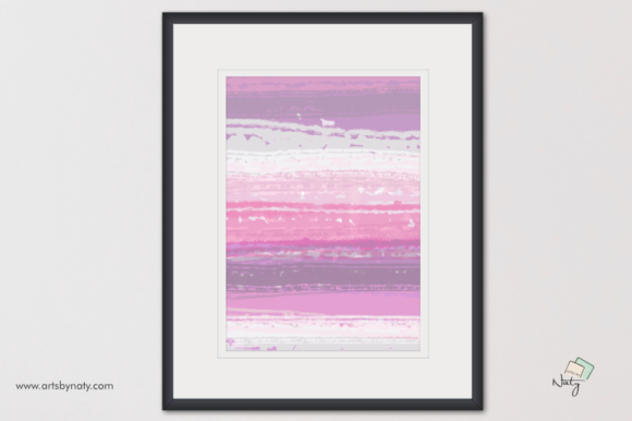 Print on Demand: Abstract Lavender Printable Painting Graphic Illustrations By artsbynaty