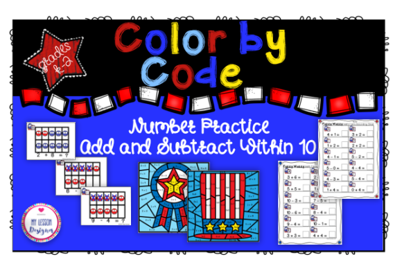 Addition and Subtraction Within 10 Graphic 1st grade By My Lesson Designer - Image 1