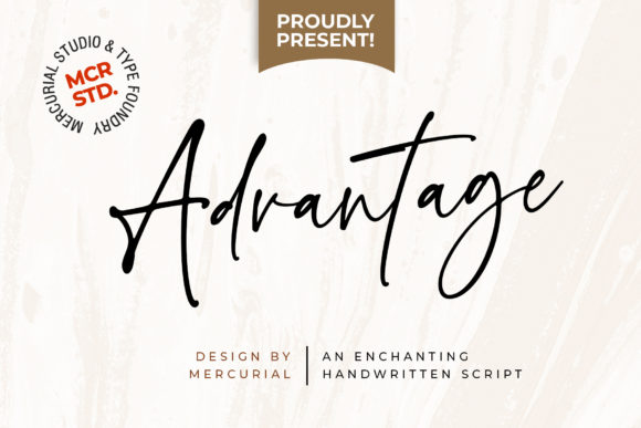 Print on Demand: Advantage Script & Handwritten Font By Mercurial