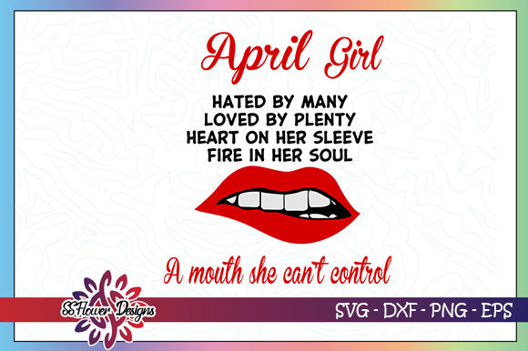 Download Free April Girl Birthday Lips Graphic By Ssflower Creative Fabrica for Cricut Explore, Silhouette and other cutting machines.
