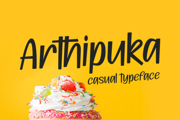 Print on Demand: Arthipuka Script & Handwritten Font By motokiwo