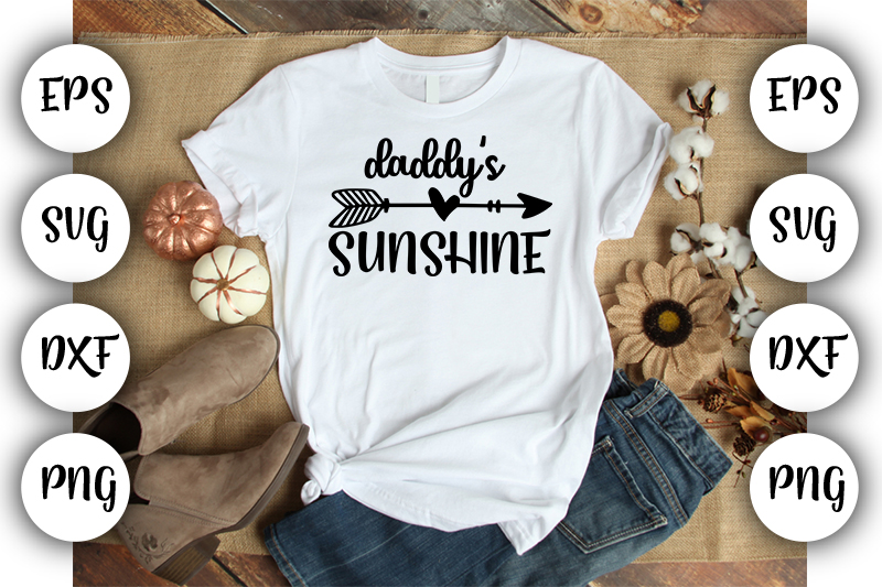 Download Free Baby Funny Daddy S Sunshine Graphic By Design Store Creative for Cricut Explore, Silhouette and other cutting machines.