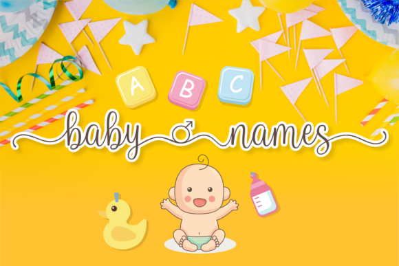 Download Free Baby Names Font By Brithostype Creative Fabrica for Cricut Explore, Silhouette and other cutting machines.