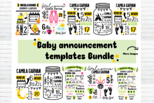 Baby Announcement Chart Bundle Graphic Crafts By redearth and gumtrees