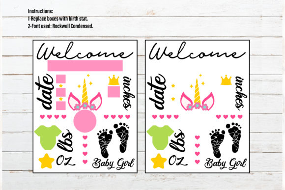 Baby Announcement Chart Bundle Graphic Crafts By redearth and gumtrees - Image 15