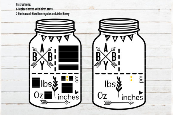 Baby Announcement Chart Bundle Graphic Crafts By redearth and gumtrees - Image 17
