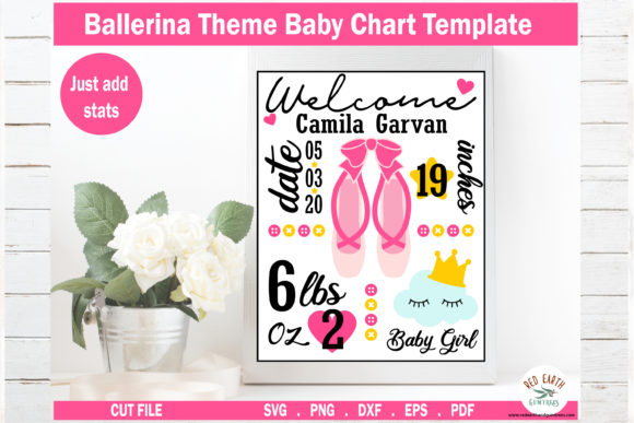 Baby Announcement Chart Bundle Graphic Crafts By redearth and gumtrees - Image 7