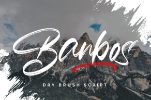 Print on Demand: Banbos Script & Handwritten Font By Fallengraphic