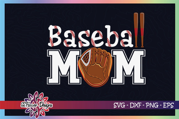Download Free Baseball Mom Baseball Gloves Graphic By Ssflower Creative Fabrica for Cricut Explore, Silhouette and other cutting machines.