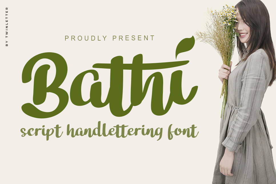 Download Free Bathi Font By Twinletter Creative Fabrica for Cricut Explore, Silhouette and other cutting machines.