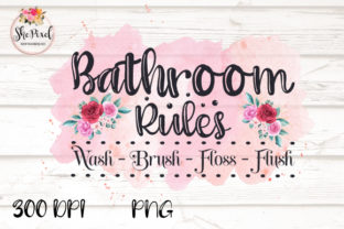 Print on Demand: Bathroom Sign Clipart Sublimation Graphic Illustrations By FunFair Designs