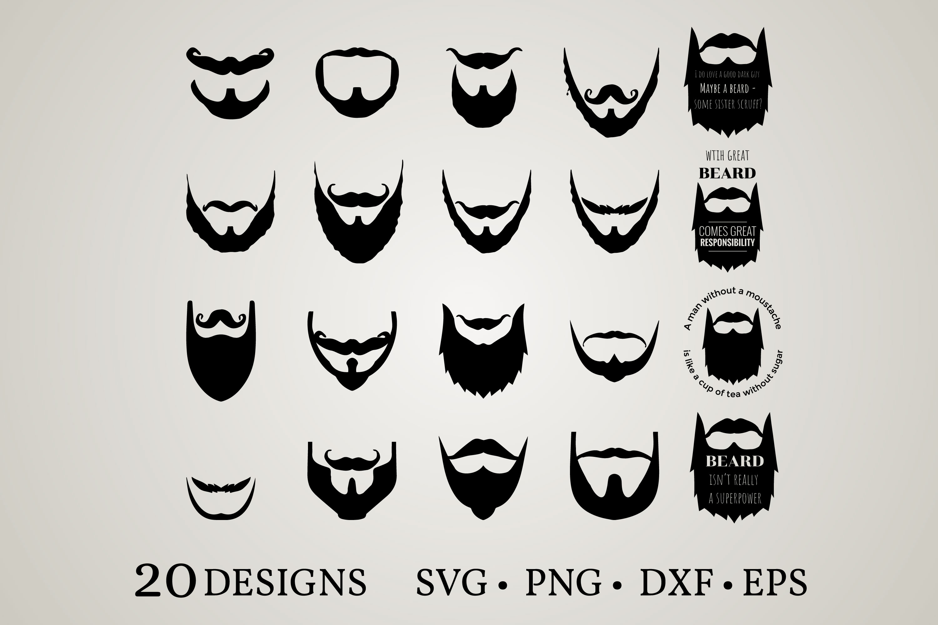 Download Free Beard Bundle Graphic By Euphoria Design Creative Fabrica for Cricut Explore, Silhouette and other cutting machines.