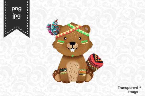 Print on Demand: Beaver Clipart Graphic Illustrations By accaliadigital
