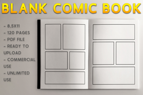 Print on Demand: Blank Comic Book | KDP Interior Graphic KDP Interiors By KDP Product