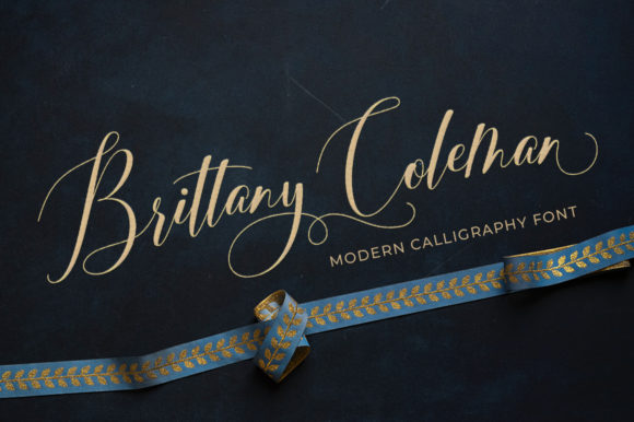 Print on Demand: Brittany Coleman Script & Handwritten Font By Aqeela Studio