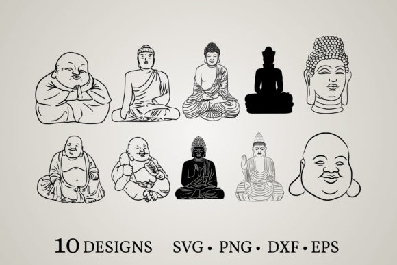 Buddha Bundle Graphic Print Templates By Euphoria Design