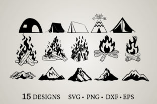 Different Camping Designs Graphic Crafts By Euphoria Design