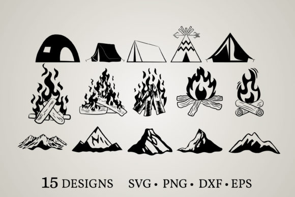 Camping Graphic Print Templates By Euphoria Design