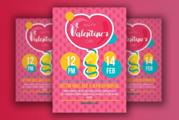 Download Free Cartoon Valentine S Day Flyer Graphic By Barsrsind Creative for Cricut Explore, Silhouette and other cutting machines.