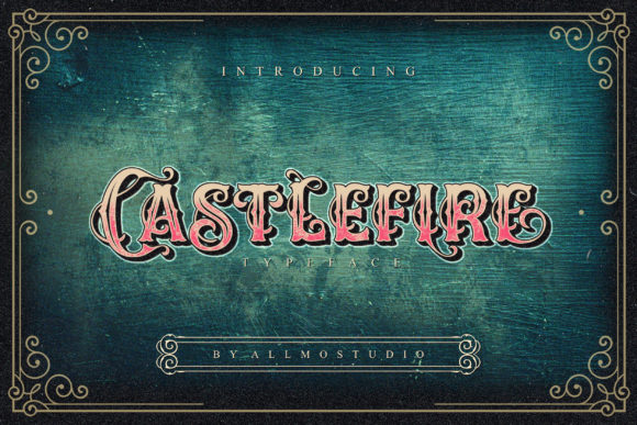 Print on Demand: Castlefire Display Font By AllmoStudio