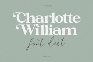 Print on Demand: Charlotte William Display Font By Maulana Creative