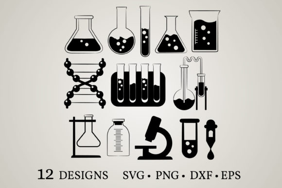 Chemistry Bundle Graphic Print Templates By Euphoria Design