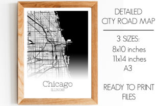 Print on Demand: Chicago Illinois City Map Graphic Photos By SVGExpress