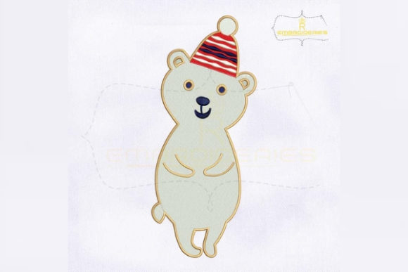Download Free Christmas Snow Bear Creative Fabrica for Cricut Explore, Silhouette and other cutting machines.