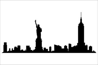 Cities Vector Silhouette Graphic Product Mockups By Fast Store