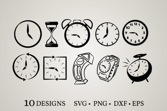 Clock Bundle Graphic Print Templates By Euphoria Design
