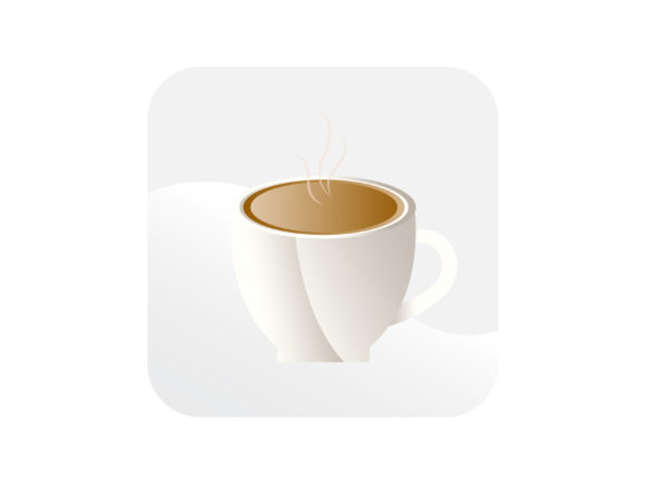 Download Free Coffee Glass Icon Graphic By Samagata Creative Fabrica for Cricut Explore, Silhouette and other cutting machines.
