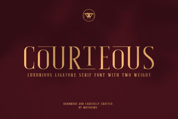 Download Free Courteous Font By Motokiwo Creative Fabrica for Cricut Explore, Silhouette and other cutting machines.