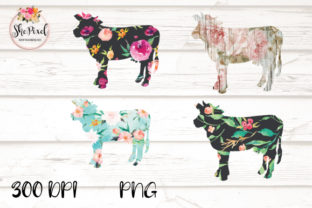 Download Free Cow Clipart Flower Pattern Cow Farm Graphic By Shepixel Creative Fabrica for Cricut Explore, Silhouette and other cutting machines.