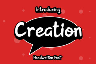 Print on Demand: Creation Script & Handwritten Font By hellofloralstudio