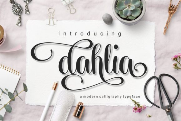 Download Free Dahlia Font By Screen Letter Creative Fabrica for Cricut Explore, Silhouette and other cutting machines.