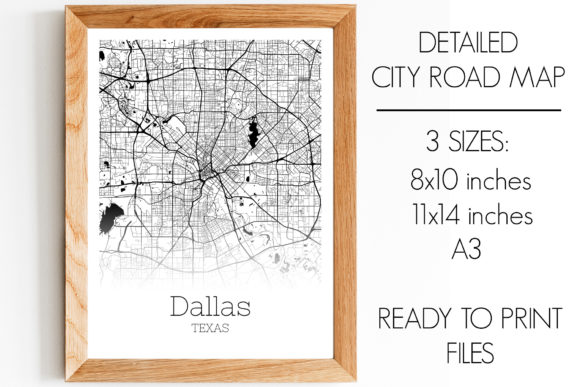 Print on Demand: Dallas Texas City Map Graphic Photos By SVGExpress