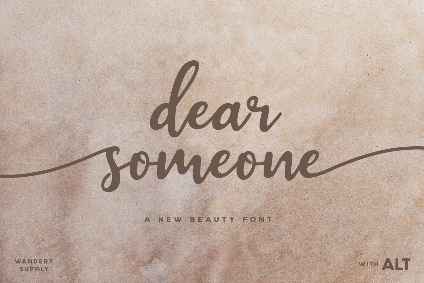 Dear Someone Font By Wandery Supply Creative Fabrica
