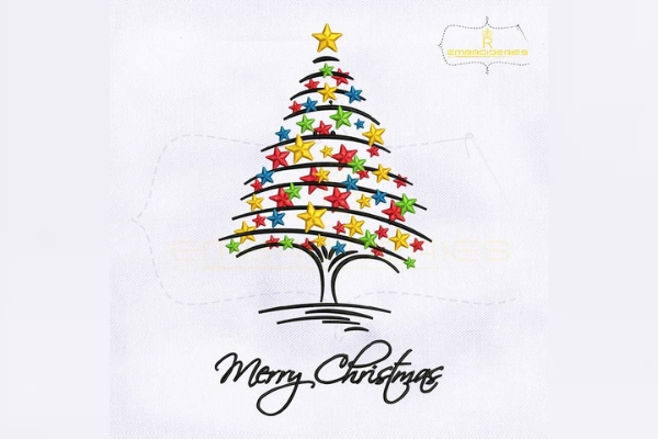 Download Free Decorative Merry Christmas Tree Creative Fabrica for Cricut Explore, Silhouette and other cutting machines.