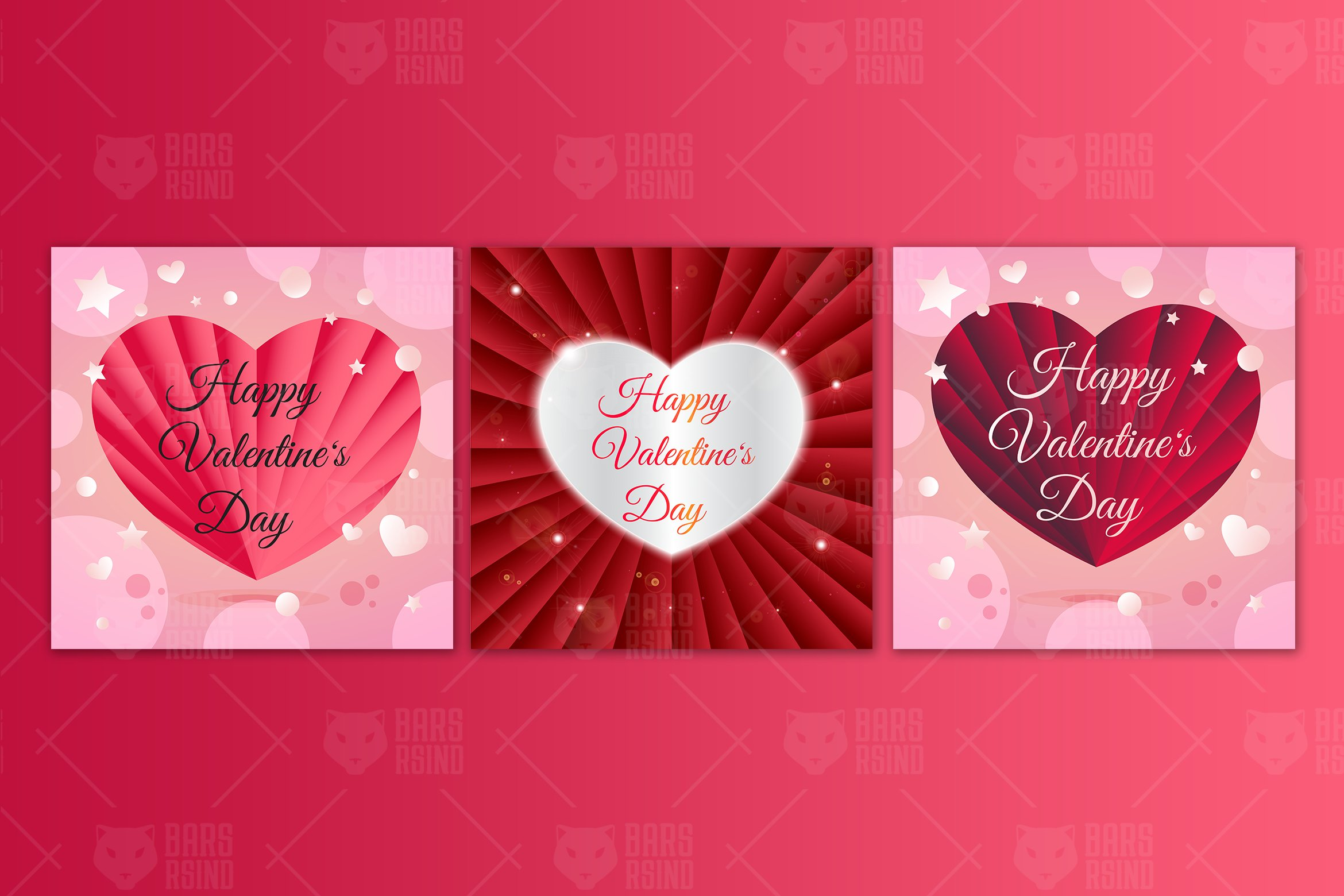 Delicate Hearts For Valentine S Day Graphic By Barsrsind